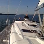 Segelausflug in den Abend auf dem Scharmützelsee beim Sunset-Sailing
