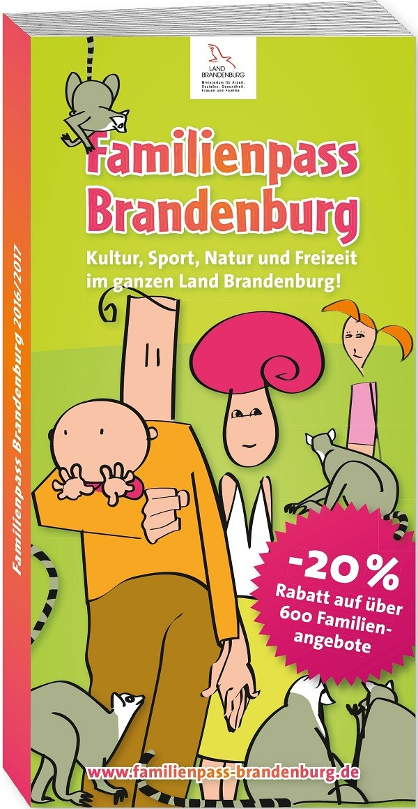 Titelseite Familienpass Brandenburg 2016/2017