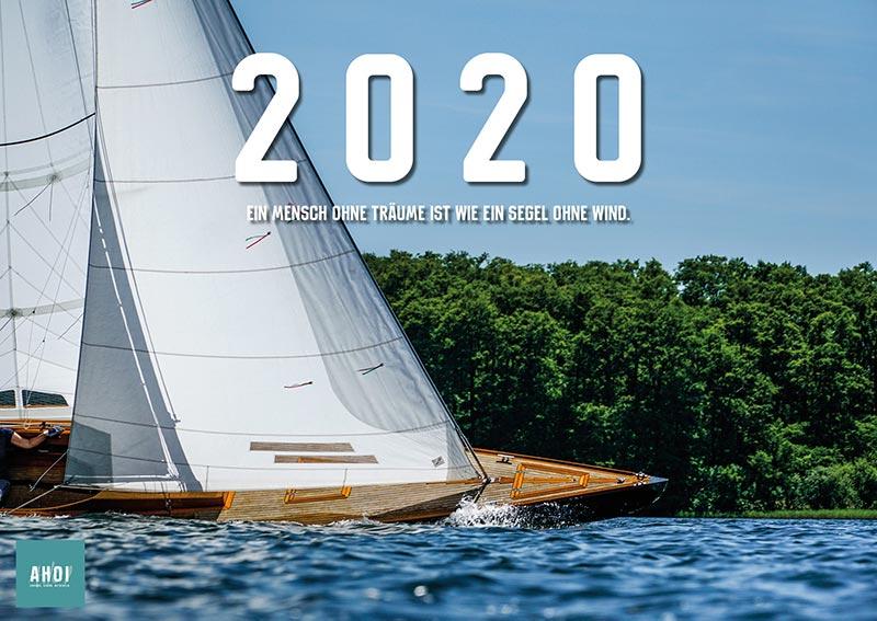 12-Monats-Wandkalender Segelkalender 2020